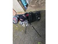Titleist bag irons and Driver