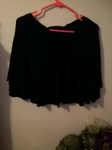Woman black skirt