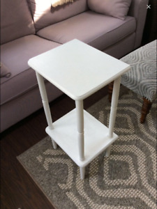 White Wooden Accent Table