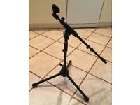 LOW LEVEL RECORDING MICROPHONE STAND, ALSO RAISES TO FULL MIKE NEW