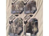 STAR WARS 4 RARE CONCEPT FIGURES (Bobba Fett, Chewbacca, Stormtrooper, Darth Vader)