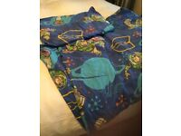 Disney cot Bed/ junior Toy story buzz duvet cover and pillowcase