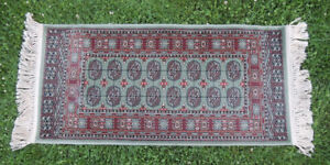 Two Rugs, Runners 2.2ft x 5.0ft-100% Wool Fibre - Bokhara,Turkey