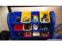 Kids plastic storage unit