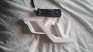 Wii controller with case and wii zapper