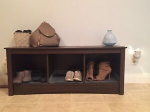 Shoe cubby/Entryway bench