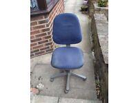 Blue Office Computer Desk Swivel Chair