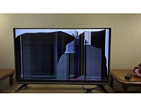LG 43 INCH TV 4K/CRACKED SCREEN/SPARES REPAIR