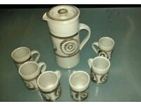Abaty Welsh Stoneware 70's Retro Coffee Set