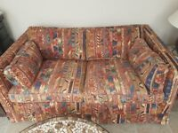 Large 2 seater settee, Multiyork with Liberty fabric