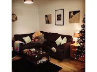Corner Sofa, Dark Grey, Good Quality - Hardly used