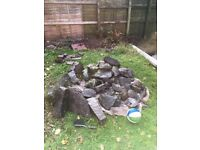 Stones for Garden Rockery - Range of Sizes - Slate Grey Colour - Collection from Four Winds