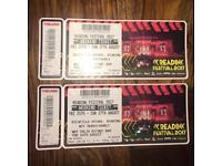 ***READING FESTIVAL WEEKEND CAMPING TICKETS X2***
