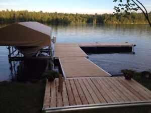 Aluminum dock and boat lifts