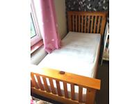Solid wooden single bed With Mattress