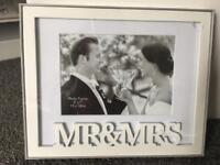 Mr and Mrs picture frame