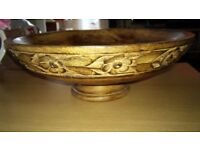 Carved wooden fruit bowl in perfect condition £15
