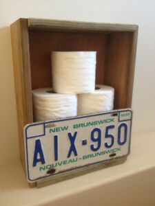 LICENSE PLATE TOILET PAPER CRATE/HOLDER