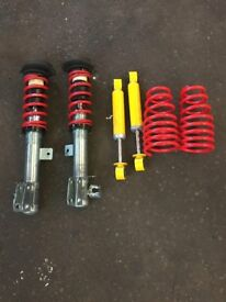 FIAT 500 2009 FRONT & REAR LOWERING SHOCKS & SPRINGS