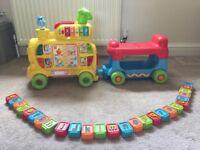 PUSH AND RIDE ALPHABET TRAIN includes all bricks A to Z.