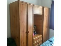 3 Piece Bedroom Furniture Set - *Excellent Condition* 2 Wardrobes & 1 Mirrored Vanity with Drawers