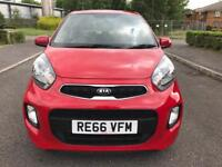 2016 Kia Picanto 1.0 1 Air 5dr Red £20 Road Tax Only 1k Miles