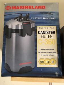 2 canister filters with media