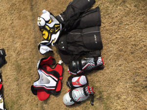 Assorted hockey gear - kids - quick sell