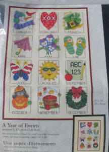 A Year of Events- counted cross stitch kit