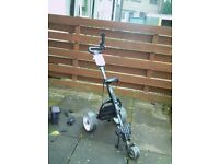 Electric golf trolley & battery + charger