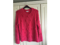 Pink 'Eyelash' Knit Ladies' Jumper