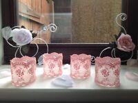 VINTAGE LACE NAPKIN RINGS - Set of 10 Wedding Napkin rings - Decor Table Setting