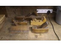 5 assorted Vintage Wooden Block Planes ideal display items or sharpen up & use as intended.