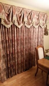 2 Full Sets of Drapes & Valances