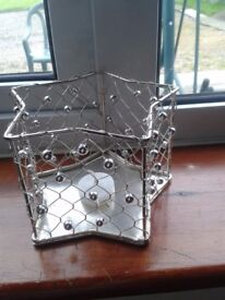 wire star shaped candle holders