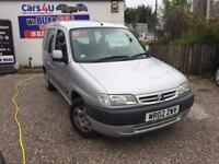 02 CITROEN BERLINGO MULTISPACE 1.9 DIESEL SILVER *PX WELCOME* MOT TILL JANUARY 2018 £795