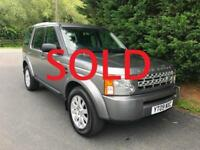 2009 LAND ROVER DISCOVERY 3 GS 2.7 TDV6 MANUAL 4X4 7 SEATER TURBO DIESEL