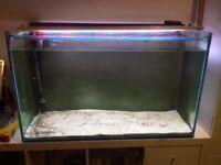 220 Litre All Glass Large Goldfish Tank Aquarium + 2 lights + External Filter + Sand