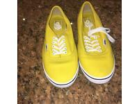 Yellow vans shoes ( brand new)