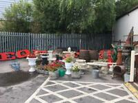 Large Selection of Vintage and Modern Decorative Garden Items