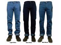 Job lot Mens Brand New Jeans Blue Dark Blue and Mid Blue 100% New