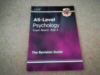 AS-Level Physchology AQA A, CGP Revision Guide. - Very good condition