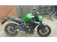 Kawasaki ER6N 2014 green good condition
