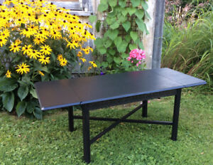 Vintage Coffee Table with Folding Sides