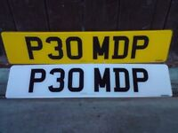 P30MDP CHERISHED / PRIVATE F+R PLATES INC DVLA RETENTION DOCUMENT FREE UK P+P E**Y ITEM 263010180693