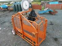 Ritchie sheep lamb weigh scales in excellent condition tractor