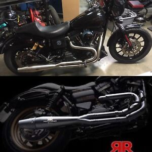 Red thunder exhaust for Harley models