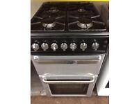 Silver & black flavel 50cm gas cooker grill & oven with guarantee