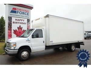 2015 Ford E-350 16 Ft Cube Van Rear Wheel Drive - 51,436 KMs