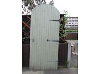 wooden garden gate,100cm wooden,7 &half foot tall at its highest point